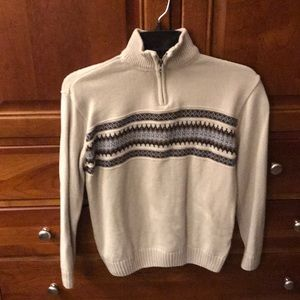 Worn once beige boys sweater. Warm and soft